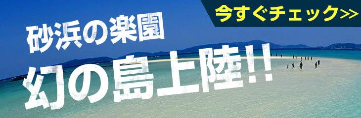 砂浜の楽園 幻の島上陸!!