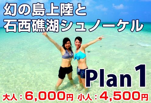 「幻の島」上陸と石西礁湖トロピカルシュノーケル[Plan1]