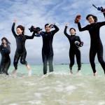 石垣島幻の島シュノーケルでジャンプ!