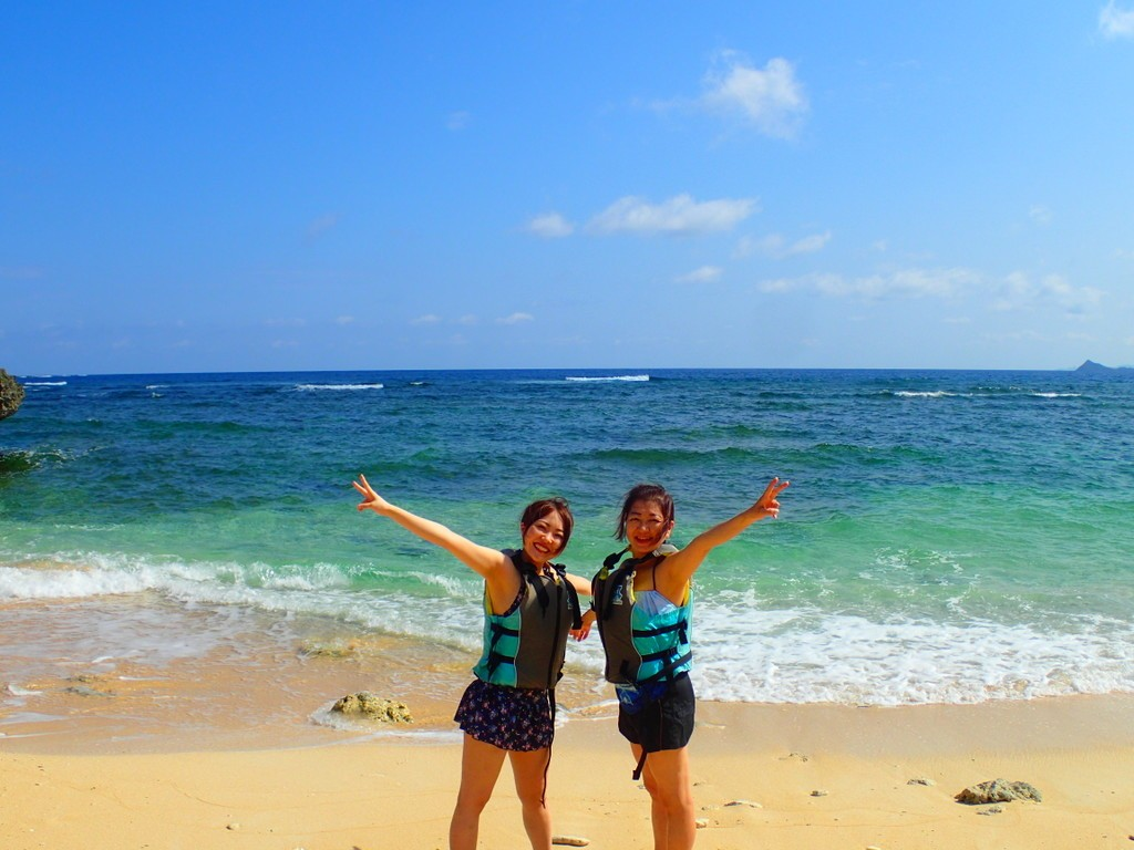 石垣島青の洞窟のビーチ