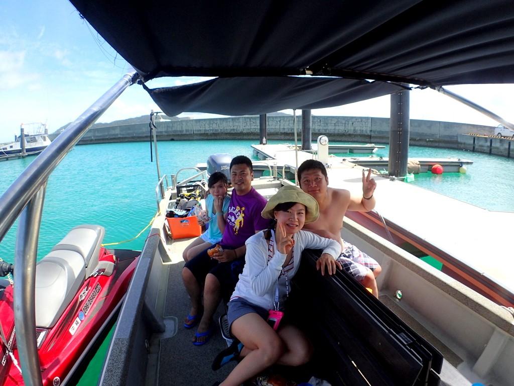 ボートチャーター出港前!